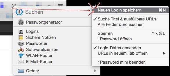 1Password Mac: nicht erkannte Passwort manuell hinzufügen