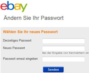 eBay-Passwort ändern