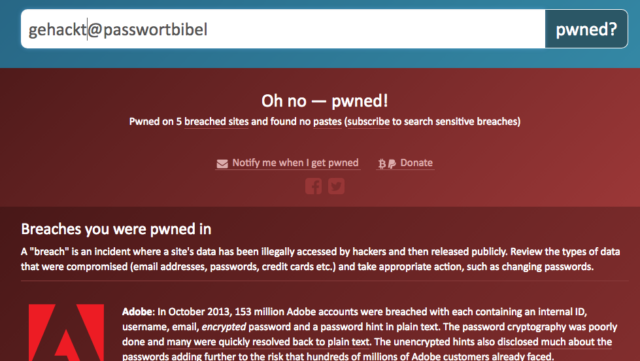 Have I Been Pwned? (HIBP)