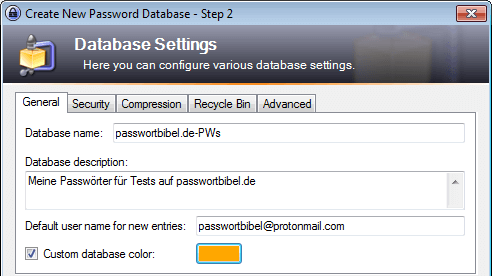 KeePass 2: Settings