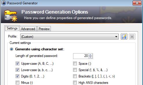 KeePass Passwort Generator