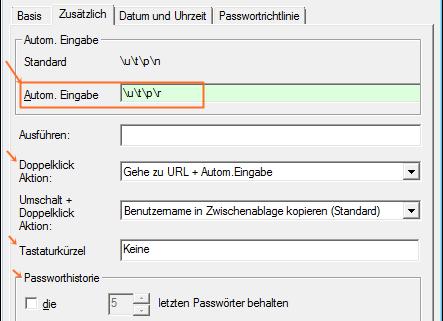 Password Safe: automatisches Ausfüllen