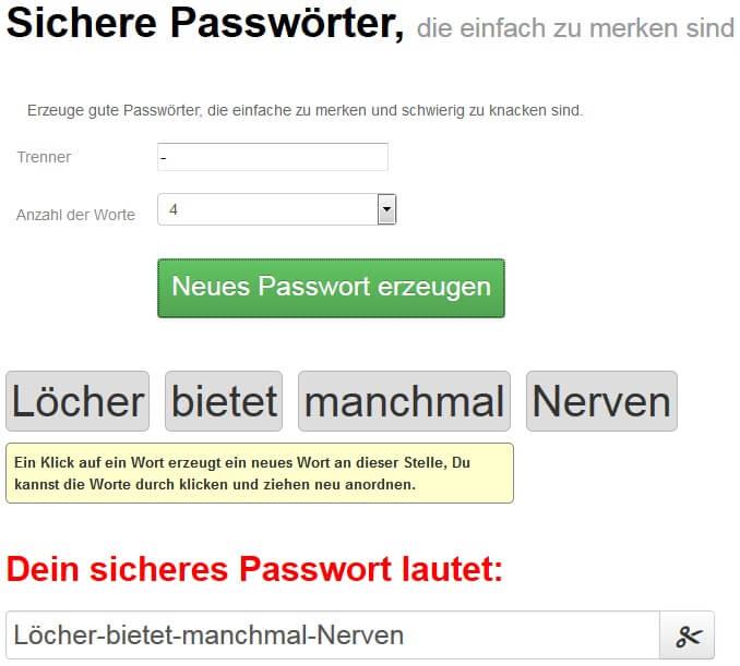 passwort online