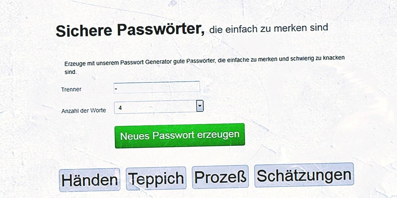 Passwort Generator Gute-Passwoerter.de