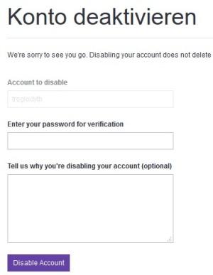 twitch.tv Account löschen und Konto deaktivieren